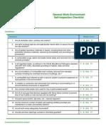 General Work Environment Self Inspection Checklist