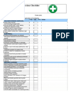 Employee Safety Inspection Checklist