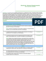 Electrical General Requirements Audit