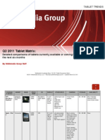 Tablet Matrix Q2 2011 by Webbmedia Group