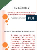 Dimensionamento 1 - Gradiente de Velocidade e Tempo de Mistura