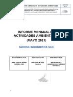 INFORME MENSUAL DE ACTIVIDADES AMBIENTALES mayo