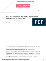 Las propiedades del texto_ adecuación, coherencia y cohesión