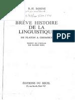 Breve Histoire de Linguistique Robins