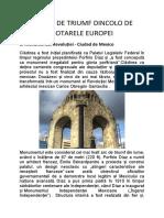 ARCURI DE TRIUMF DINCOLO DE  HOTARELE EUROPEI