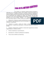 LA ESTRUCTURA DEL METODO CIENTIFICO