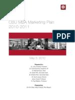 MBA Marketing Capstone
