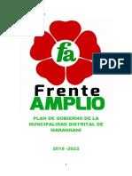 Plan de Gobierno Frente Amplio 2019-2022