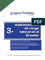 Administracion De Riesgo Laboral En El Ecuador