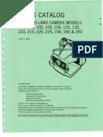 Parts Catalog - Polaroid Land Camera Models 100, 101, 102, 103, 104, 125, 135, 210, 215, 220, 225, 230, 240, & 250 - June 1970