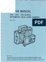 Repair Manual 100 - 200 - 300 Series Automatic Pack Land Camera - March 1970