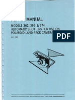 Repair Manual 362, 366, & 374 Automatic Shutters for Use on Polaroid Land Pack Cameras - May 1968