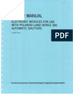 Repair Manual Electronic Modules For Use With Polaroid Land Series 300 Automatic Shutters - August 1972