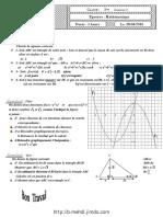 Devoir de contrôle N°5 - Math - 2ème Sciences (2009-2010) Mr Jemli Khaled