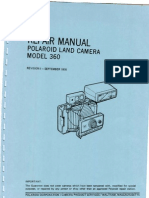 Repair Manual Polaroid Land Camera Model 360 Revision I - September 1970