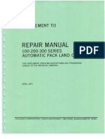 Supplement to Repair Manual 100 - 200 -300 Series with Procedures Unique To The 400-Series Cameras - April 1971