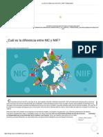 ¿Cuál es la diferencia entre NIC y NIIF