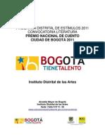 PremioNacionaldeCuentoCiudaddeBogota2011