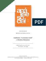 Economia Verde e Direitos Humanos - Ana de Jesus e Bruno Oliveira e Silva