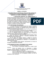 Edital prefeitura de CAMPO GRANDE
