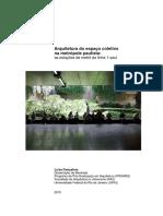 ARQUITETURA DO ESPAÇO COLETIVO NA METRÓPOLE PAULISTA - AS ESTAÇÕES