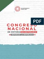 Congreso Nacional de Historia Bicentenario (Julio, 2021)