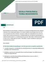 ESCOLA PSICOLÓGICA TEORIA BEHAVIORISTA