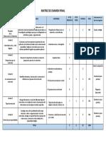 EJEMPLO - Matriz de Evaluación