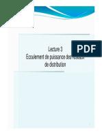 Lecture 3- Ecoulement de puissance réseaux distribution