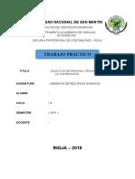 SELECCIÓN DE PERSONAL, PROCESO DE SELECCIÓN, LA CONTRATACIÓN.