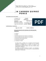 Curriculum Vitae Patricia Quiroz P