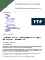 ¿Quién es Mama Chola Wengue en la Regla del Palo_ La Guerrera fiel