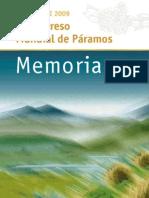Memorias PARAMUNDI 2009 II Congreso Mundial de Páramos
