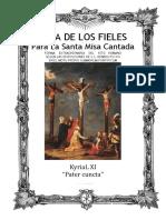 GUÍA DE LOS FIELES PARA LA SANTA MISA CANTADA. Kyrial Pater cuncta