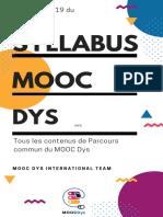 Syllabus Mooc Dys Parcours Commun 2019