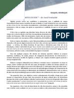 RESENHA livro ANTES DO IDE de JOED VENTURINI