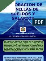 FORMATO PLANILLA DE SUELDOS Y SALAL 2017