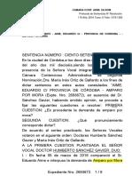 CCA-2-Sentencia-170-2016-Aime AMPARO POR MORA, VER FALLO