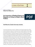 An Inversion of Radical Democracy The Republic of Virtue in Žižek's Revolutionary - Geoff Boucher,