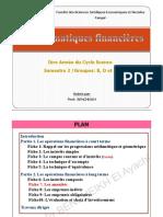 Pr BENCHEIKH Mathématiques financières (Les annuités)