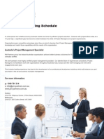2011 Project Management Training Timetable
