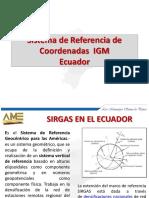 Sistema de Referencia de Coordenadas Ecuador