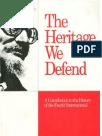Heritage We Defend (David North)