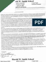 School Response to Teacher Letter