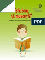 Brosura Despre Munca Copilului Pentru Copii de La 7 La 12 Ani