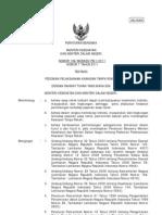 Peraturan Bersama Dua Menteri Nomor 7 tahun 2011 tentang Peraturan Pelaksanaan Kawasan Tanpa Rokok