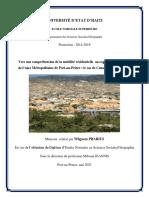 Vers une compréhension de la mobilité résidentielle au regard de l'étalement de l'Aire Métropolitaine de Port-au-Prince