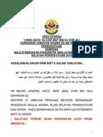 Ucapan Datuk Che Mat Che Ali  Pengantin 1 Malaysia 2010
