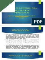 2da Clase Unidades de Conversion Para Elaborar Formas Farmaceuticas
