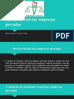 Serviço Social Nas Empresas Privadas